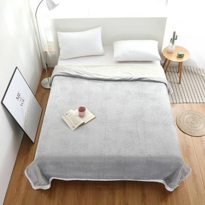 2020新款小雏菊双层贝贝绒毯 150cmx200cm毛毯 灰