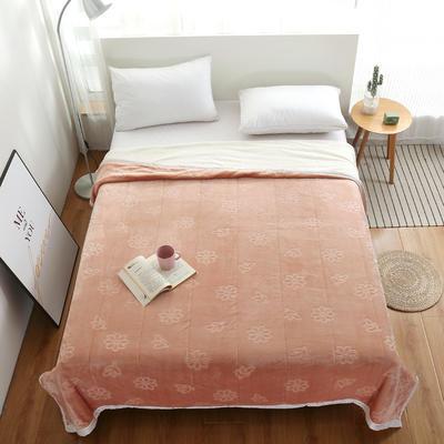 2020新款小雏菊双层贝贝绒毯 150cmx200cm毛毯 香槟