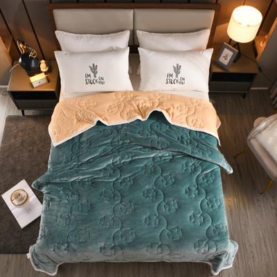 2020新款四叶草系列毯子 150cmX200cm2.7kg 藏蓝