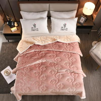 2020新款四叶草系列毯子 150cmX200cm2.7kg 琥珀