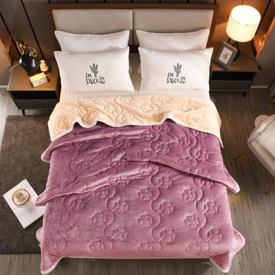 2020新款四叶草系列毯子 150cmX200cm2.7kg 紫