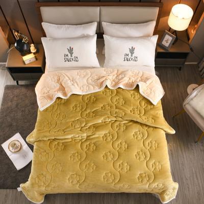 2020新款四叶草系列毯子 150cmX200cm2.7kg 棕绿