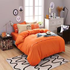 靓居家纺      纯色活性磨毛美式纽扣款 1.0m(3.3英尺)床 橘色