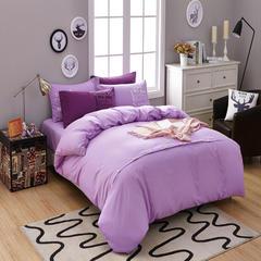 靓居家纺      纯色活性磨毛美式纽扣款 1.0m(3.3英尺)床 浅紫