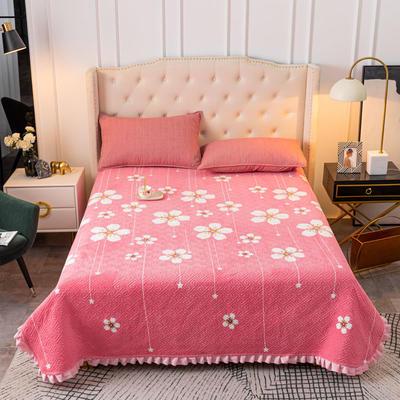 2020新款立体绗缝舒适保暖法莱绒水晶绒宝宝绒牛奶绒床盖单品 200cmx230cm 花缇雅