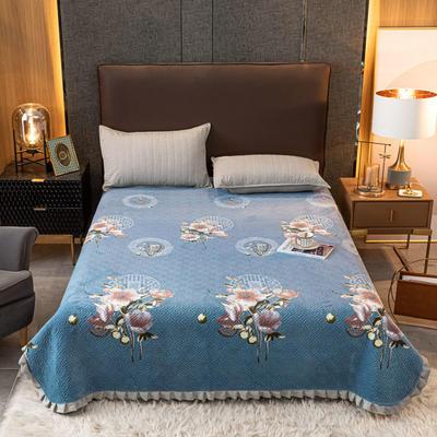 2020新款立体绗缝舒适保暖法莱绒水晶绒宝宝绒牛奶绒床盖单品 200cmx230cm 花之韵