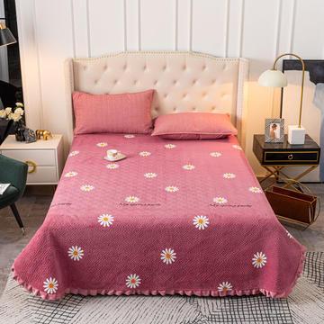 2020新款立体绗缝舒适保暖法莱绒水晶绒宝宝绒牛奶绒床盖单品