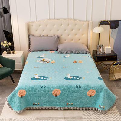 2020新款立体绗缝舒适保暖法莱绒水晶绒宝宝绒牛奶绒床盖单品 200cmx230cm 童趣