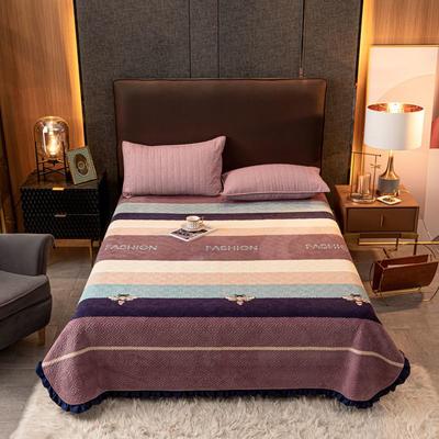 2020新款立体绗缝舒适保暖法莱绒水晶绒宝宝绒牛奶绒床盖单品 200cmx230cm 温情北欧