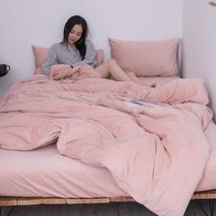 新款-天鹅绒四件套 2.0m(6.6英尺)床 粉