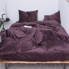 新款-天鹅绒四件套 1.5m(5英尺)床 紫