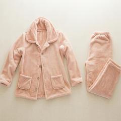 冬季保暖厚毛布家居服女士 M 粉色