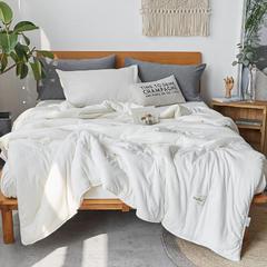2018新品140克针织棉春秋被工艺款 150x200cm  2.8斤 奶白