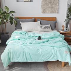 2018新品140克针织棉春秋被工艺款 150x200cm  2.8斤 松石绿