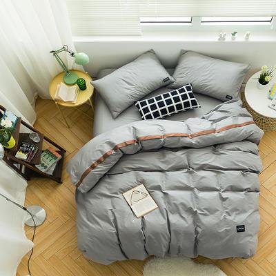 全棉斜纹活性印染四件套 简约贴标款 小号(1.35m床及以下) 时光