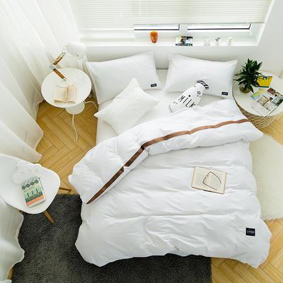 全棉斜纹活性印染四件套 简约贴标款 小号(1.35m床及以下) 璞玉
