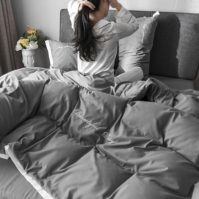 2019新款亲肤棉纯梦系列四件套 1.35m床单款三件套 纯梦-灰