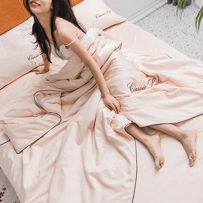 2019新款水洗真丝夏被四件套 单枕套48x74cm/对 香槟