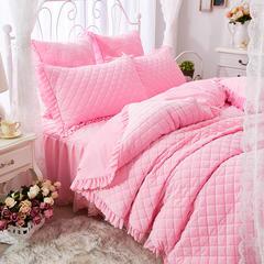 蜜恋水晶绒夹棉蕾丝床裙系列---单被套 200X230cm 粉色