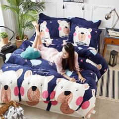 170克普通法兰绒系列四件套 1.2m/1.35m床三件套 可爱熊