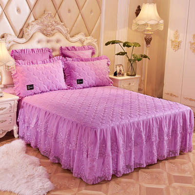 2018新款雀舞床裙单品系列 150cmx200cm 雀舞-浅紫