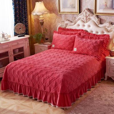 2018新款心心相印单品床盖系列 250cmx250cm 心心相印-砖红