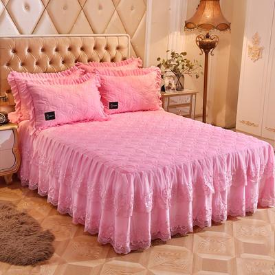 2018新款秀色玫瑰床裙单品 150cmx200cm 秀色玫瑰-粉色
