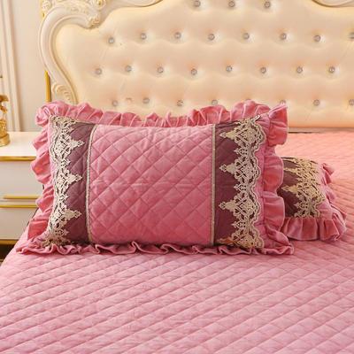2019新款圣玛丽娜单品枕套 48cmX74cm 一对 圣玛丽娜-豆沙红