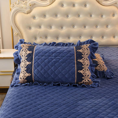 2019新款圣玛丽娜单品枕套 48cmX74cm 一对 圣玛丽娜-烟灰蓝