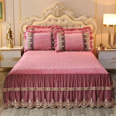 2019新款圣玛丽娜床裙系列单品床裙 150*200(+45CM) 圣玛丽娜-豆沙红