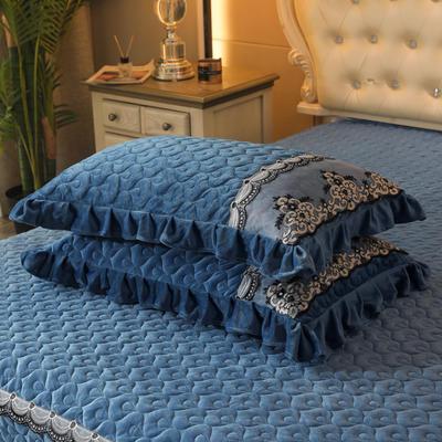 2020新款孔雀纹系列单枕套 48cmX74cm 宝石蓝