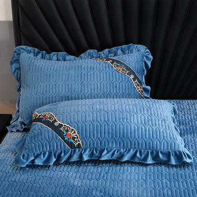 2020新款乳胶系列单枕套 48cmX74cm/对 宝石蓝
