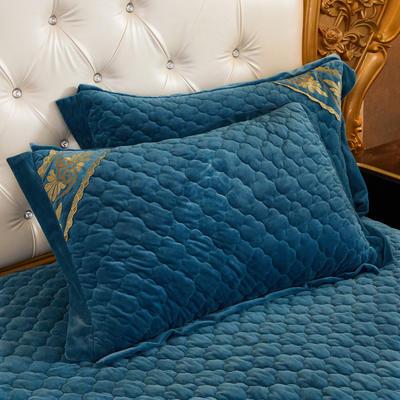 2020新款布拉格系列单枕套 48cmX74cm/对 布拉格-宝蓝