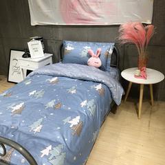 2019新款全棉学生宿舍单人三件套 枕套48*74/个 北欧森林