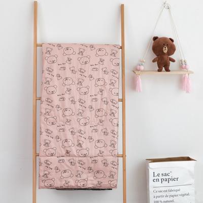 2019年春夏新品 儿童新系列60长绒棉夏被 150*200 幸福小熊