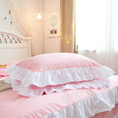 2018新款纯色韩版四件套 拍照样式1 1.8米床 床单款 蝴蝶结含芯/个