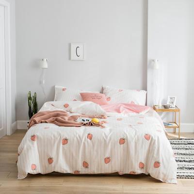2019新款13372萌系小清新四件套 1.2m床单款三件套 甜心草莓