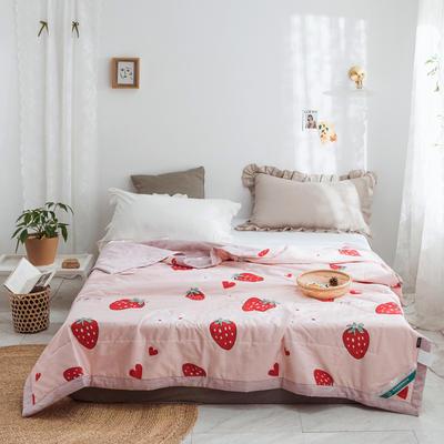 2019新款-全棉棉花夏被 1.5*2.0m 大草莓