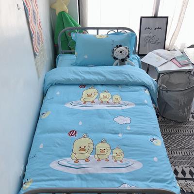2019新款全棉学生宿舍单人三件套 枕套48*74/个 小黄鸭蓝