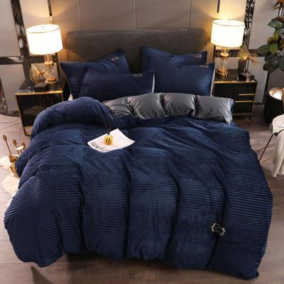 2019新款魔法绒保暖四件套 1.2m床单款三件套 藏青