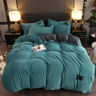 2019新款魔法绒保暖四件套 1.2m床单款三件套 芳草绿