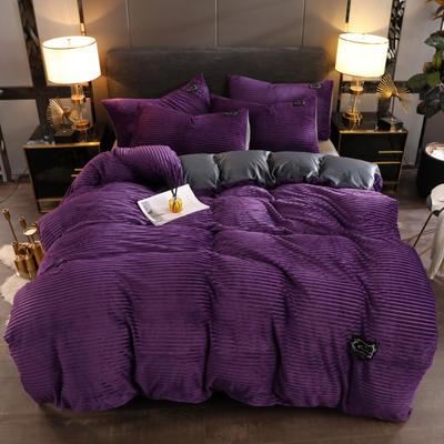 2019新款魔法绒保暖四件套 1.2m床单款三件套 魅力紫