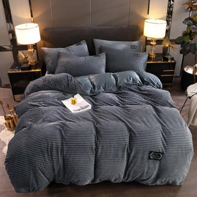 2019新款魔法绒保暖四件套 1.2m床单款三件套 绅士灰