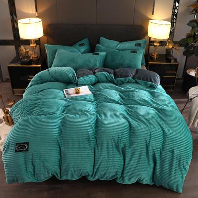 2019新款魔法绒保暖四件套 1.2m床单款三件套 松石绿