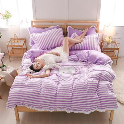 2018新款水洗棉韩版四件套 1.5m(5英尺)床 小时代