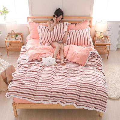 2018新款水洗棉韩版四件套 1.5m(5英尺)床 雅致生活