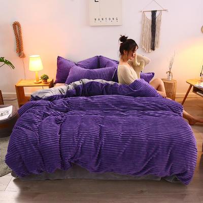 2019新款魔法绒水晶系列四件套 1.8m床四件套(床单款) 魅力紫