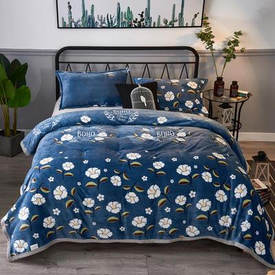 2020云貂绒毛毯法兰绒毛毯珊瑚绒毛毯午睡毯法莱绒床单盖毯 120*200cm 花团锦簇
