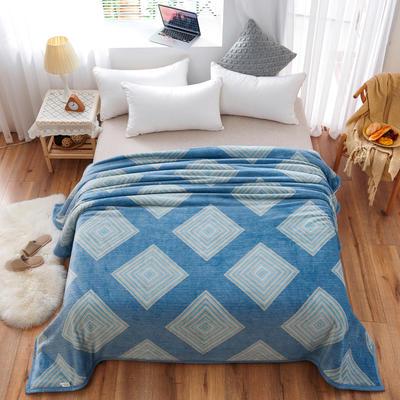2020云貂绒毛毯法兰绒毛毯珊瑚绒毛毯午睡毯法莱绒床单盖毯 120*200cm 回型格