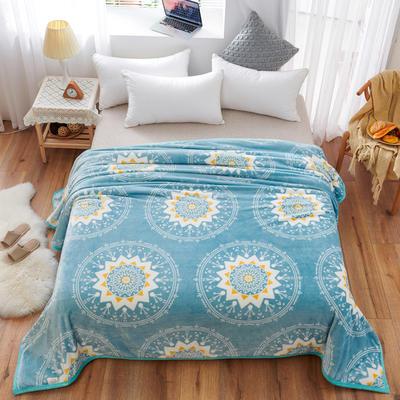 2020云貂绒毛毯法兰绒毛毯珊瑚绒毛毯午睡毯法莱绒床单盖毯 120*200cm 米西亚圆